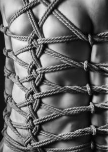 The rope bondage shave